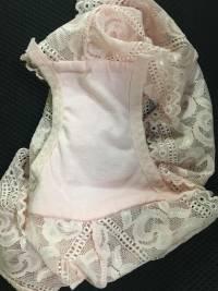 High Waist Pure Lace Transparent Bowlnot Cotton Crotch Panties