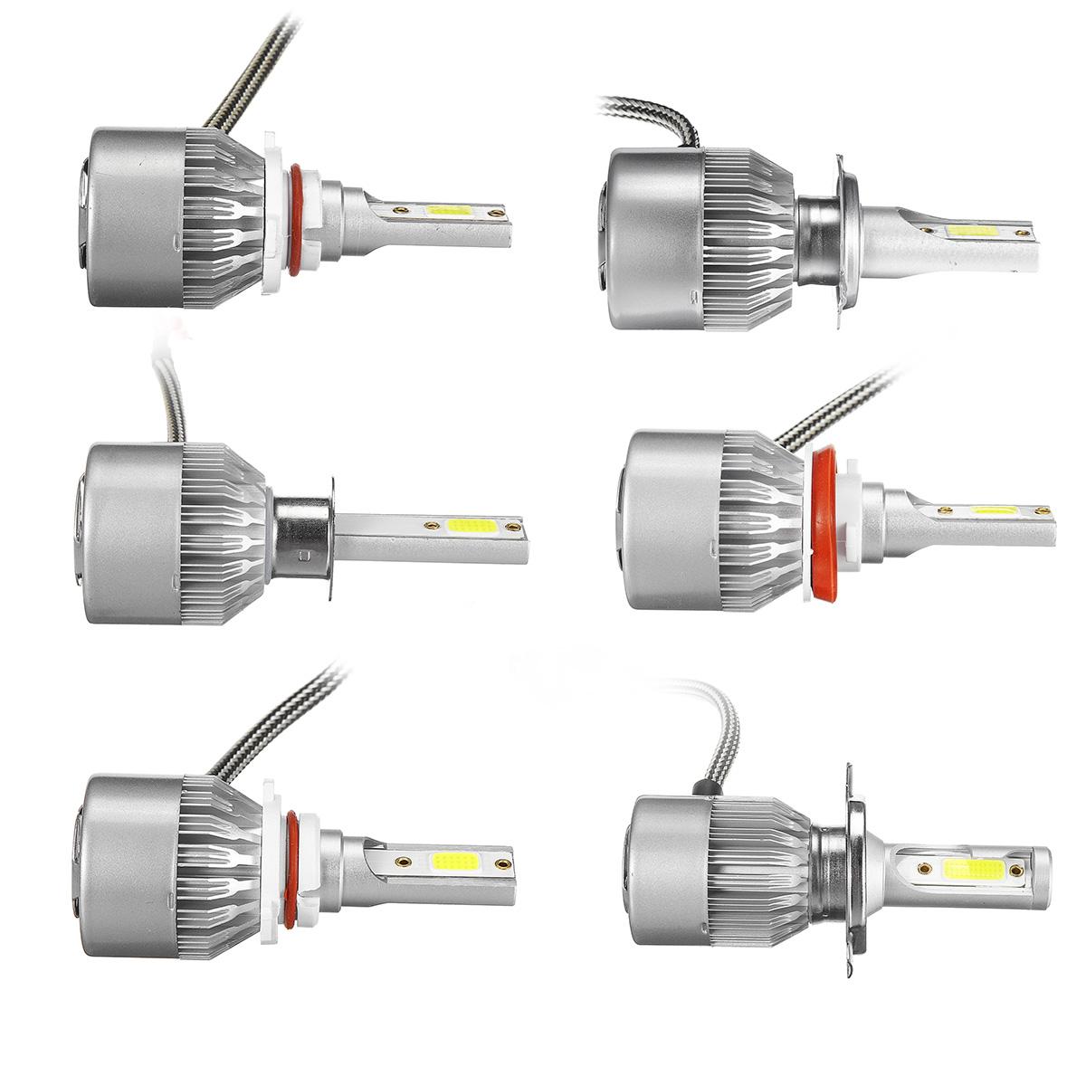 9V-36V H1/H4/H7/H11/9005/9006 COB LED Lâmpadas de Faróis Conversion Kit  White