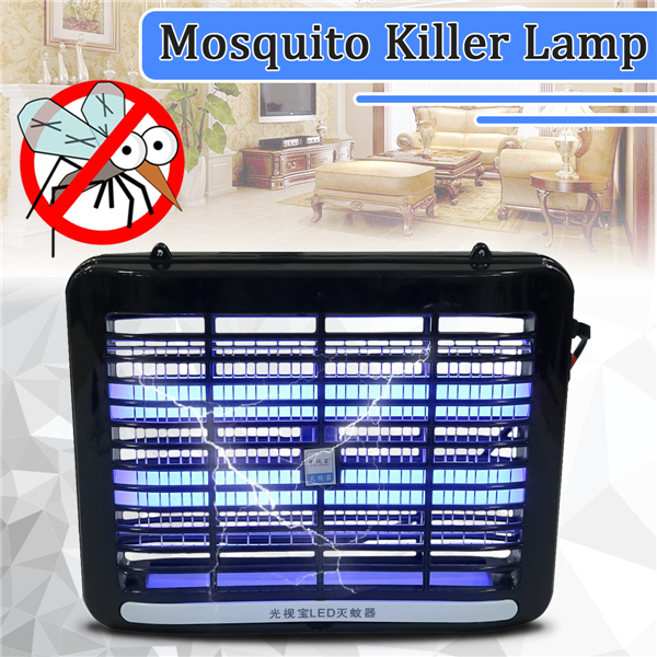 220V 1W LED Light Electronic Indoor Mosquito Insect Killer Bug Fly Zapper US Plu