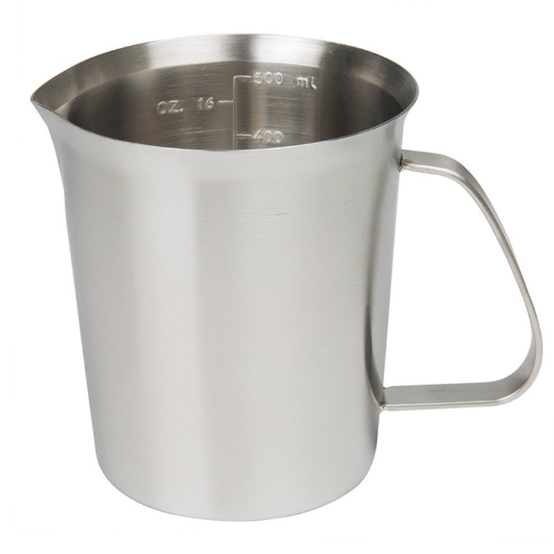 KCASA KC-MCup 18/10 stainless steel measuring cup frothing cup with labeling milk butter
