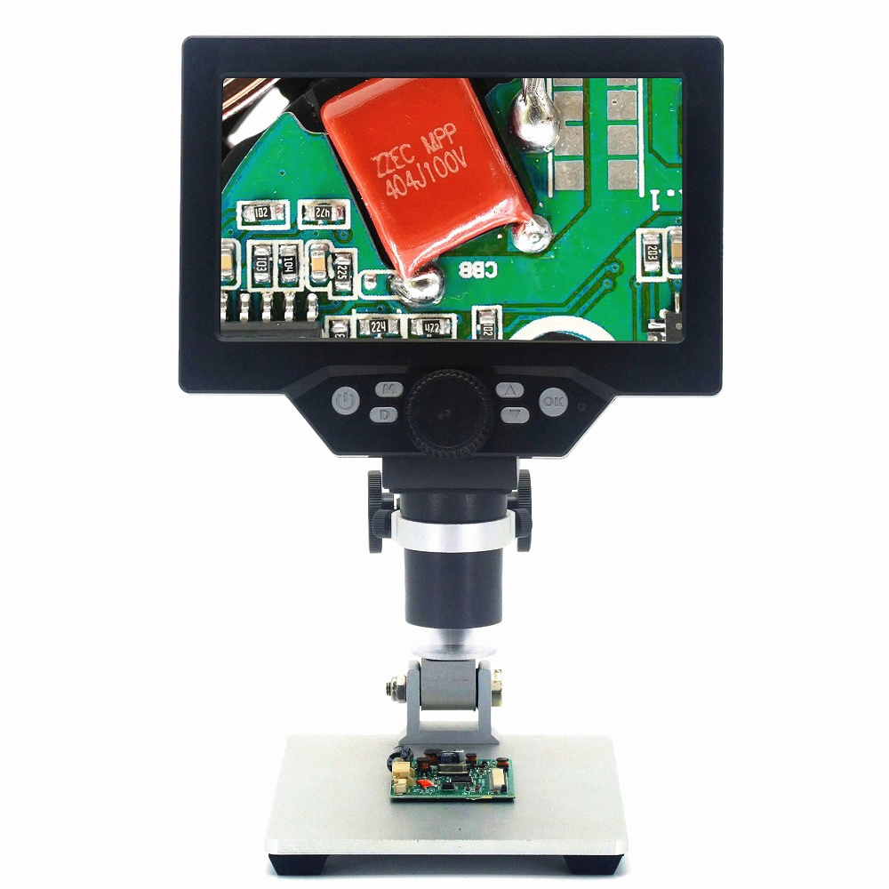 MUSTOOL G1200 Digital Microscope 12MP 7 Inch Large Color Screen Large Base LCD Display 1-1200X Continuous