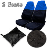 Black+Blue Car Front Seat Covers Water Resistant Protectors Universal