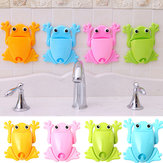 Cute Frog Toothbrush Wall Stick Paste Organizer Storage Box