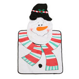 3pcs Christmas Snowman Toilet Seat Cover Set Bathroom Mat Closestool Cover Rug