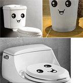 O sorriso bonito da cara adesivos de banheiro à prova d'água de higiene adesivos autocolantes Closestool
