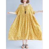 Maxi robe en mousseline de soie élastique taille élastique