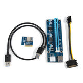 0.6m USB 3.0 PCI-E 1x to 16x Extension Cable Powered Extender Riser SATA Adapter Card