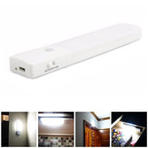 USB Rechargeable LED Under Cabinet Night Light Motion Sensor Kitchen Wardrobe Closet Lamp