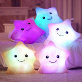 Smile Star LED Flash Light Stuffed Cushion Soft Cotton Plush Throw Pillow Decor Children Valentines Gift Toy