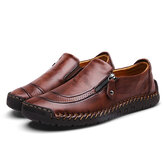Menico Comfy Hand Stitching Slip On Leather Oxfords
