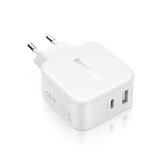 BlitzWolf®BW-S1130WType-CPD/ QC3.0 + 2.4A Double USB Chargeur Rapide Adaptateur EU pour iPhone X 8 Plus iPad