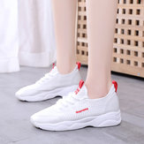 Small White Shoes Women's Breathable Mesh Sports Shoes Season New Wild Flat Casual Running Shoes