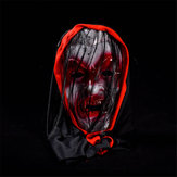 Halloween Supply Ghost Mascarillas con Cabello Vampire Horrible Mask