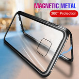 Bakeey 360° Magnetic Adsorption Flip Metal Tempered Glass Protective Case for Huawei Mate 20 Pro