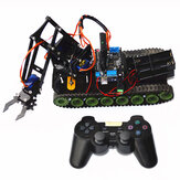 Controle Remoto Robot Tank Toys RC Robot Chassis Kit com servo Arduino PS2 Mearm