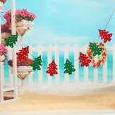 Christmas Tree Shape Flags Hanging Ornament Home Party Wall Decor