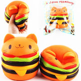 Sanqi Elan Squishy Cat Burger 11 * 10 CM Slow Rising Soft Animal Collection Gift Decor Toy Oryginalne opakowanie
