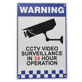 CCTV Warning Sign Sticker Security Video Surveillance Camera Safety Sign Reflactive Metal