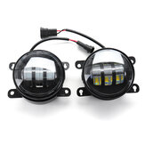 4 Inch COB LED Daytime Running Lights DRL Fog Lamp Dual Color for Ford F150/Honda/Nissan/Subaru/Acura