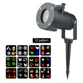 LED Mini Projector Stage Light Adjustable Waterproof Lamp with 12 Slide Card