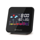 Digoo DG-C15 Digitale Mini Draadloze Kleur Backlight Weersverwachtingstation USB Hygrometer Vochtigheid Thermometer Temperatuur Weerstation Wekker
