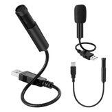 Yanmai SF-558 USB Wired Flexible Mini Condenser Microphone for YouTube Facebook Stream Live Recording