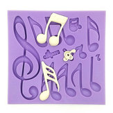 Musical Notes Fondant Cake Mold Silicone Chocolate Mold Baking Cake Decorating Tool