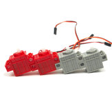 KittenBot® 360 ° Red اللون Geek Servo & 270 ° Grey اللون Geek Motor with Wire for Lego / Micro: bit