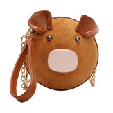 Women Cute Pig Crossbody Bag Chic Casual Clutch Bag