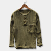 Men's Corduroy Vintage Thick Warm Loose T-shirts