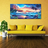 Home Decor Canvas Print Paintings Wall Art Modern Sunset Scenery Beach Tree Gift