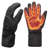 Waterproof Rechargeable Heated Gloves para Motorycle Bicicleta Skiing Gift Unisex L XL