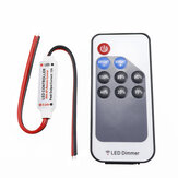 DC5-24V LED RF Controller Dimmer 9 Keys Wireless Remote Control for Single Color Strip Light