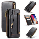 Caseme Protective Case For iPhone XR Vintage Detachable Wallet Card Slots PU Leather Cover