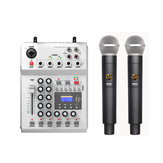 FOLE F-12T-USB KTV Stage DJ Mixer mixer audio con Display con 2 Microfono