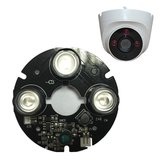 3 pz Array IR LED Spot Light 850nm Scheda A Infrarossi per CCTV Emisfero Dome fotografica 63mm Diametro