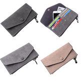 Clutch Long Purse Leather Wallet Case Telefoon Bag Card Solt Holder voor iPhone Samsung Xiaomi Huawei
