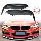 Fibra de carbono de Corrida Divisores Frente Lip Fit Car Bumper Asa Bumper Protector Para BMW Série 3 F30 M Sport Sedan 2013-2017