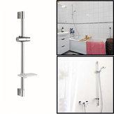 Cuarto de baño ducha barra de la cabeza de elevación configurado con jabonera y el soporte del cabezal de ducha