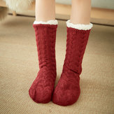 Women Winter Thickening Warm Non-Slip Middle Tube Socks