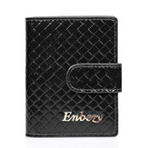 prawdziwa skóra RFID Zasuwka Card Holder Quilted Business Name Case Short Wallet