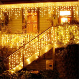 Boże Narodzenie 4M 96 LED Indoor Outdoor String Lights 110-220V Curtain Sopel Drop LED Party Garden Stage Dekoracyjne światło