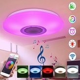 RGBW APP/Voice Control Dimmable bluetooth Speaker LED Ceiling Light Fixture Work with Google Alexa