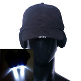 Puur Katoen LED Cap Glow in Dark voor lezen Fishing Jogging Ear Protection Light Up LED Sport Hat