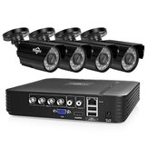 Hiseeu 4CH 1080P AHD Security Camera DVR CCTV Camera System Kit Waterproof Video Surveillance System