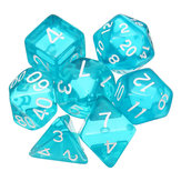 7 Pcs Dice Polyhedral Dices Set Translucent RPG Gadget Multisided Dice With Bag