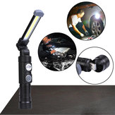 XANES W549 LED+COB 5Modes 360°+180° Foldable Head Magnetic Tail USB Rechargeable Flashlight Work Light