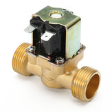 3/4 inch 12V DC VDC Slim Brass Electric Solenoid Valve NPSM Gas Water Air N/C
