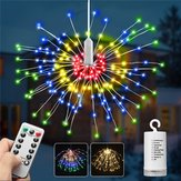 Battery Supply 8 Modes 240 LED Hanging Firework Fairy Wire String Light Christmas Wedding Decor Lamp