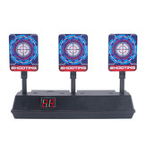 Auto-Reset Electric Scoring Shooting Target with Light and Sound Scoring Practice Target for Nerf Tool